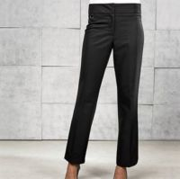 Womens flat front hospitality trousers - bootcut