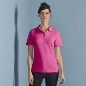 Womens softstyle double piqu polo