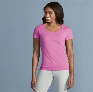 Softstyle womens deep scoop t-shirt