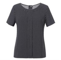 Womens Verona crepe de chine short sleeve blouse