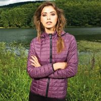 Womens honeycomb hooded jacket