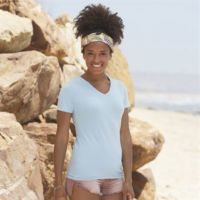 Lady-fit v-neck tee