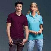 Anvil womens double piqu polo