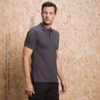 Shoulder patch polo shirt Superwash 60C