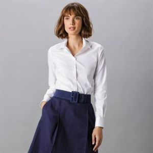 Womens stretch Oxford shirt long-sleeved (tailored fit