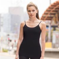 Womens feel-good stretch spaghetti vest