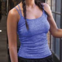 Womens seamless strappy vest