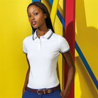 Womens classic fit tipped polo