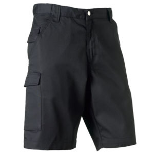 Poly/cotton twill workwear shorts