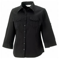 Womens roll-sleeve  sleeve shirt