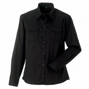 Roll-sleeve shirt long sleeve (J918M)