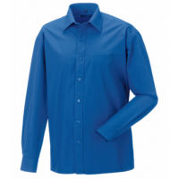 Long sleeve pure cotton easycare poplin shirt