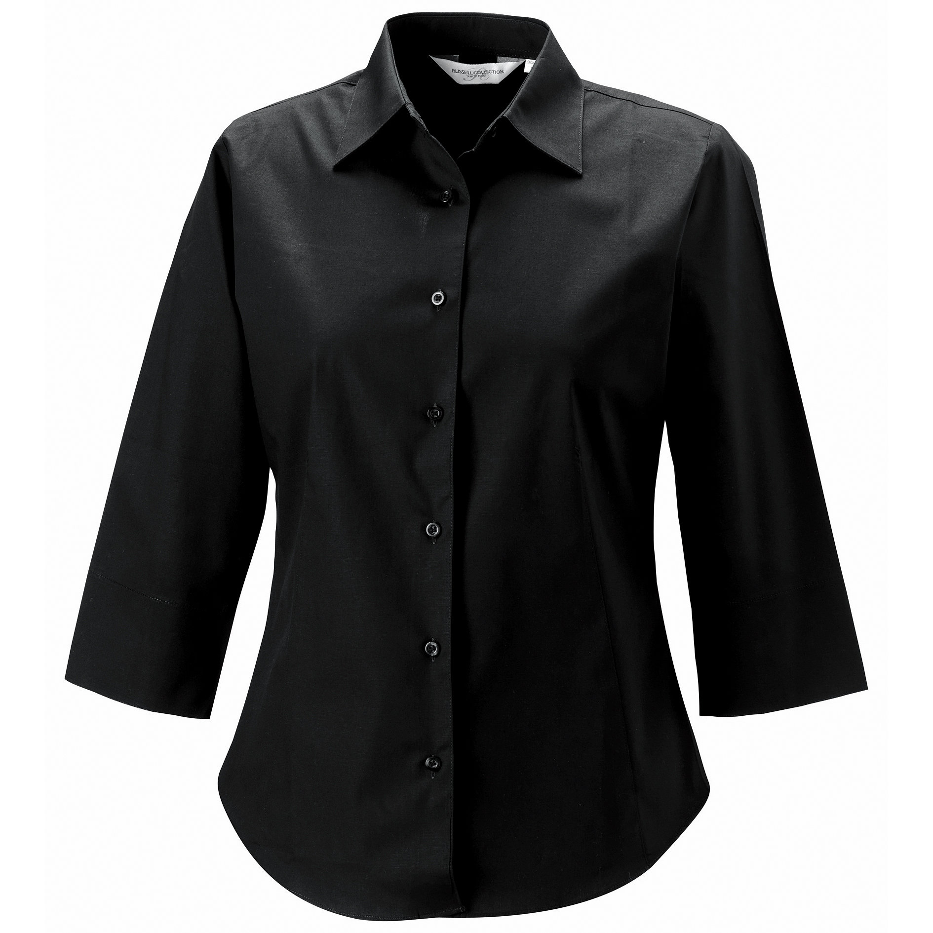 Womens Sleeve Easycare Fitted Shirt D Zyne