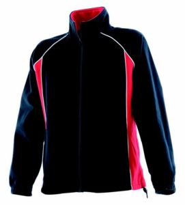 Womens piped microfleece jacket