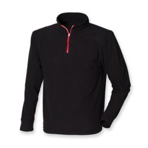 Zip long sleeve fleece piped