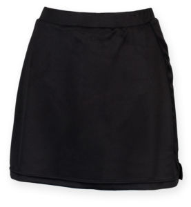 Womens skort with wicking finish