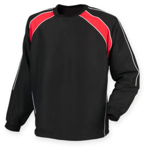 Crew neck warm-up drill top
