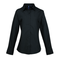 Womens supreme poplin long sleeve shirt (PR307)
