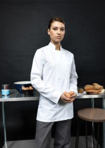 Womens long sleeve chefs jacket