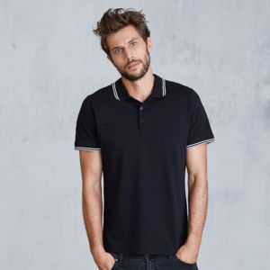 Constrast short sleeve polo