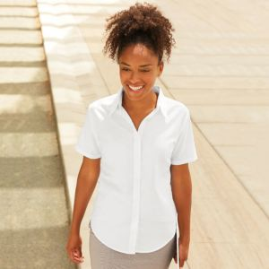 Womens Oxford short sleeve shirt