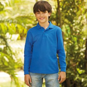 Kids long sleeve 65 / 35 polo