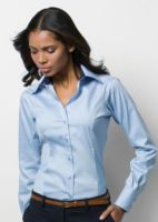 Womens contrast premium Oxford shirt long sleeve