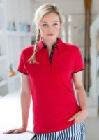 Womens contrast pique polo shirt