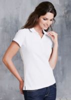 Womens constrast short sleeve polo