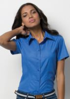 Womens workplace Oxford blouse short sleeved