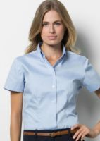 Womens corporate Oxford blouse short sleeved