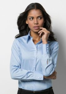 Womens corporate Oxford blouse long sleeved