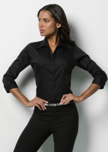 Womens corporate Oxford shirt  sleeved
