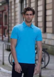 Short sleeve stretch polo