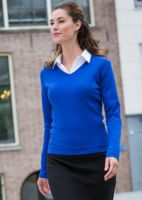 Womens 12 gauge v-neck jumper