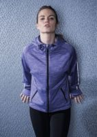 Womens lightweight running hoodie with reflective tape