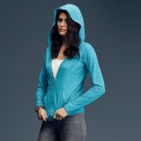 Anvil women's triblend full-zip hooded jacket