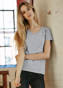 Anvil womens fashion basic v-neck tee