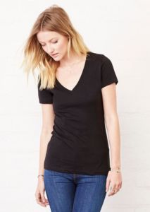 Jersey deep v-neck t-shirt