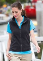 Womens sleeveless microfleece jacket